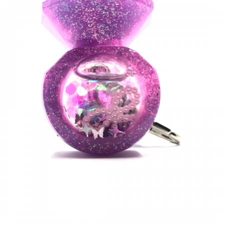 Purple Shaker Keychain