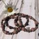 Rhodonite and Lava Stones Bracelets